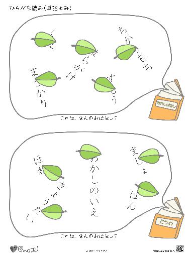 ひらがな読み(単語読み:ものがたり3-2)金太郎・ヘンゼルとグレーテル