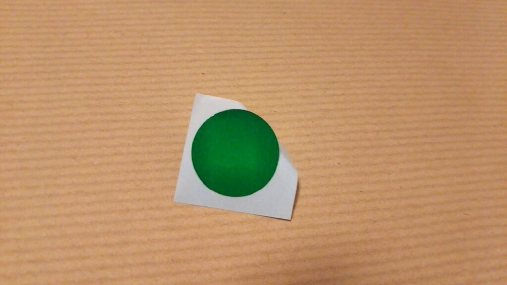 シール貼りプリントの使い方(シール準備・1枚)
