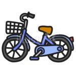 イラスト_自転車_カラー