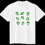 シール貼り葉っぱTシャツ